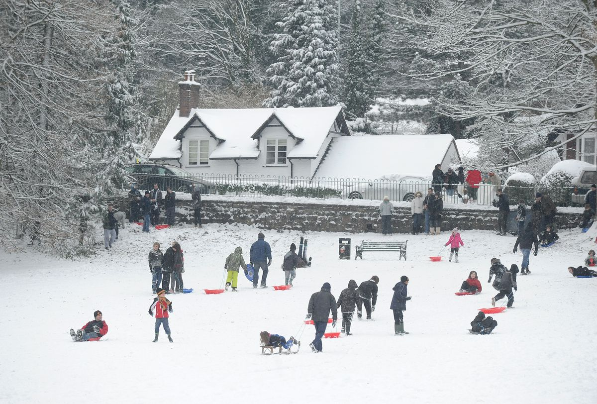 Sledging fun in Tettenhall in December 2010, when there was the last widespread white Christmas.
