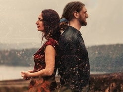 Folk duo play in Oswestry