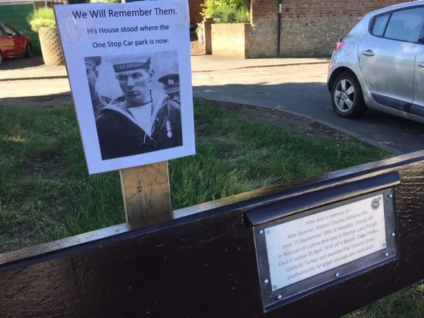Plaque and bench commemorate hero Ludlow seaman awarded the VC