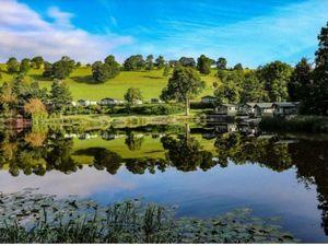 The lake known as Pant Pool at Hidden Valley Caravan Park
