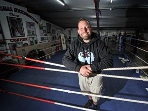 SPORT COPYRIGHT MNA MEDIA TIM THURSFIELD 31/07/21 .Pics for feature on Lions Boxing Club, Brierley Hill, and their coach, Kev Dillon, one of the hardest working blokes in amateur boxing. .Pictured is head coach Kev Dillon..