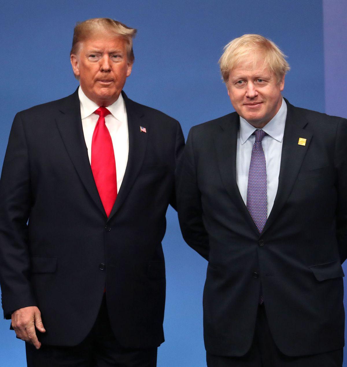 US President Donald Trump and Prime Minister Boris Johnson