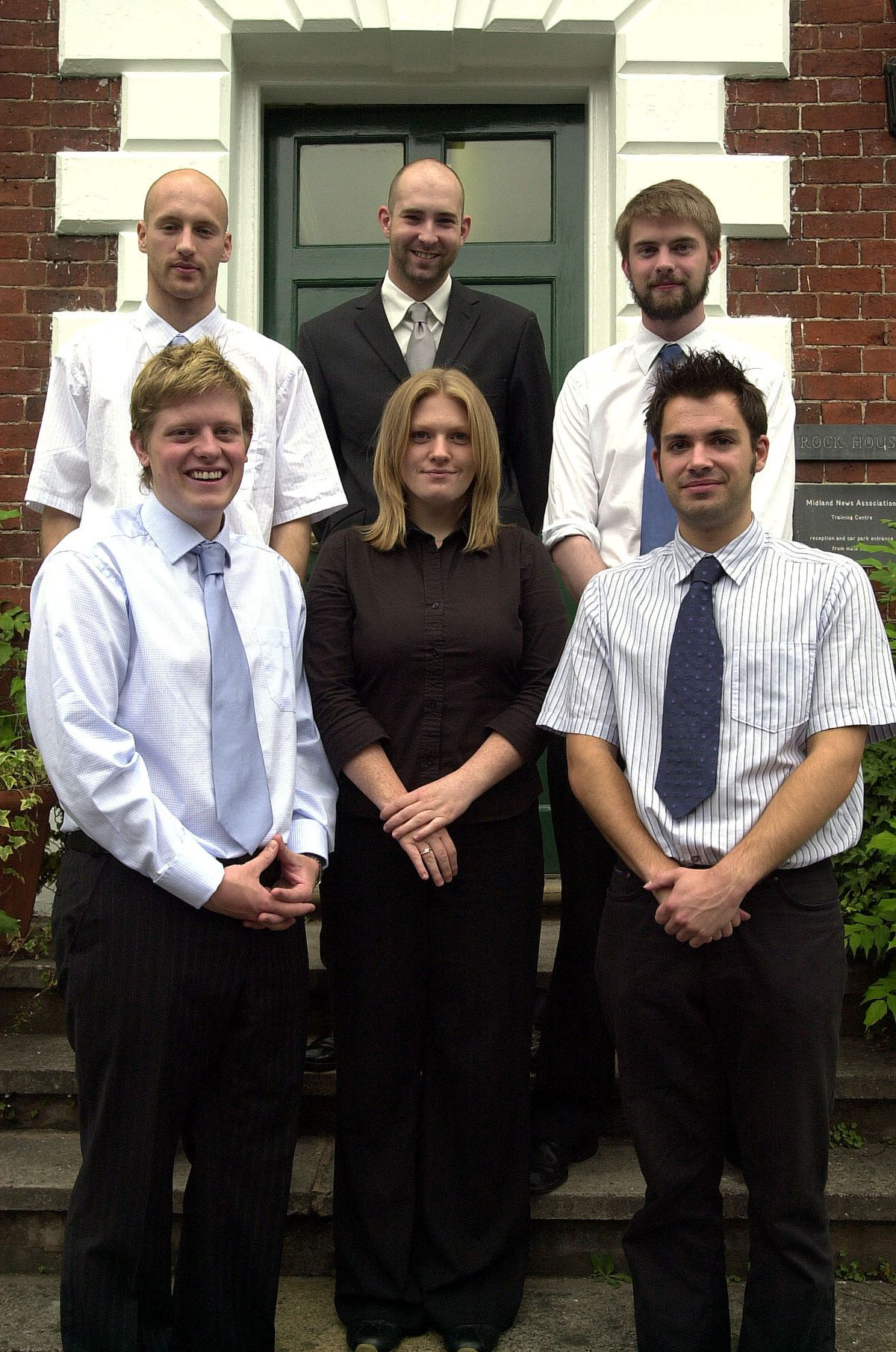 James Holt, front left, with fellow trainees at the start of his career with the Shropshire Star