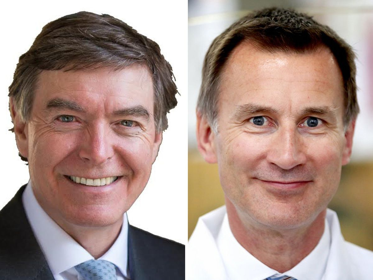 Philip Dunne, left, is supporting Jeremy Hunt's leadership bid