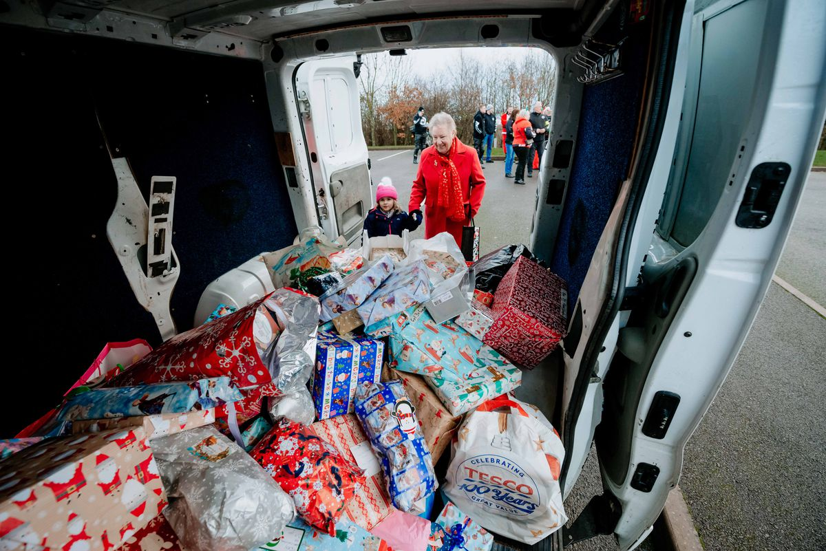 Some of the presents being delivered to children at RSH