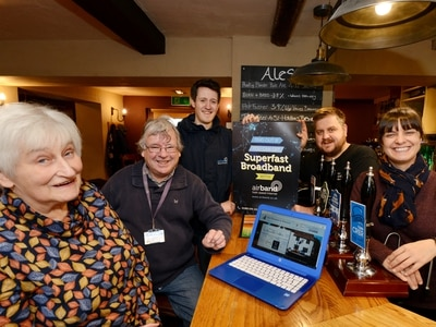 Delight as ultrafast broadband rolled out to Shropshire village
