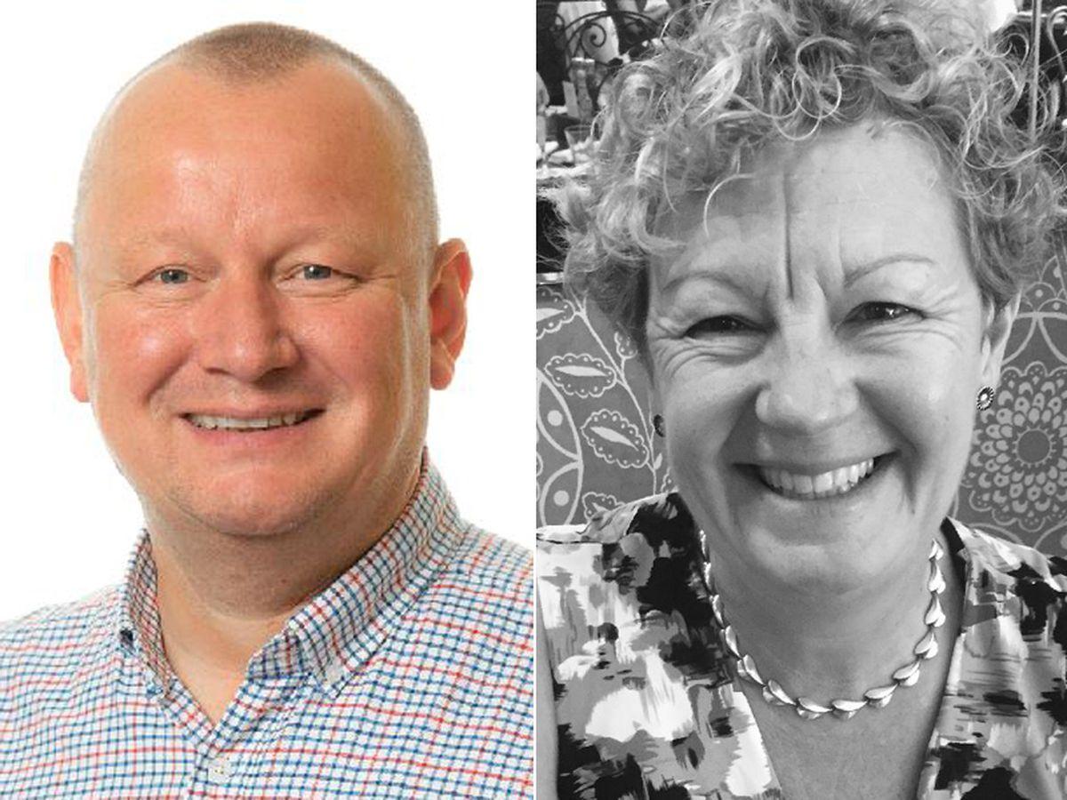 Phil Whittingham and Caroline Donaldson