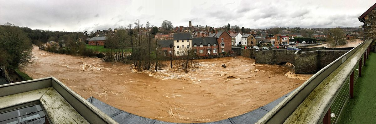 The view from the Ludford Bridge at Ludlow. Picture: Victoria Martin