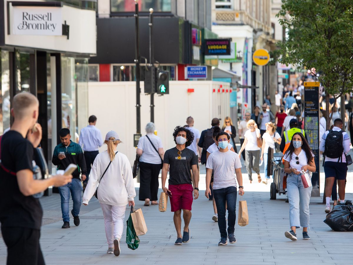 Shoppers in central London