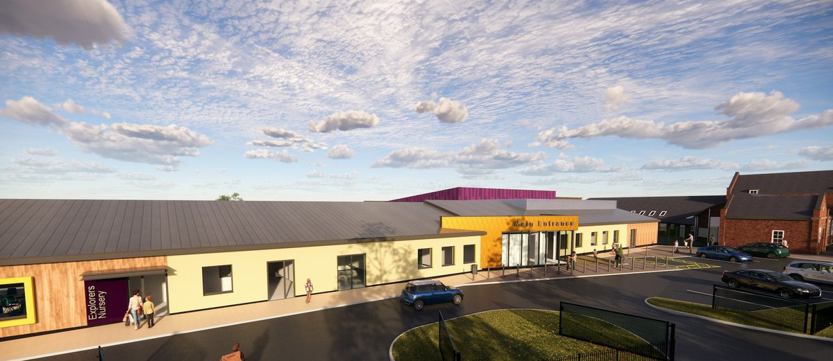 An artist's impression of how the new school building will look