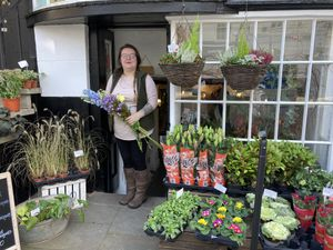 One of the retailers to sign up to the ShopAppy in Bridgnorth, Abi Rowley, of Blooms the florist on Bridgnorth's High Street