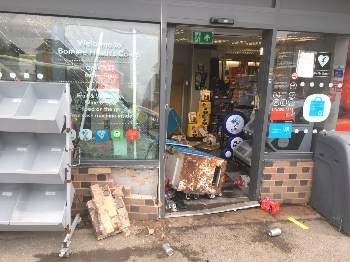 Damage caused by the would-be thieves