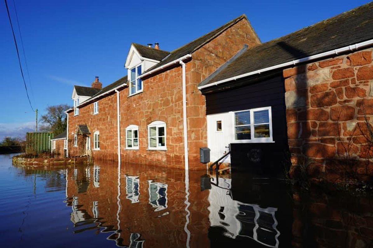 Flooding in Pentre left roads impassable. Picture Eve Morris
