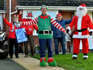 Santa paid a visit to the home of: Jason Smith, with helpers Cheryl Thomas and Chris Corfield