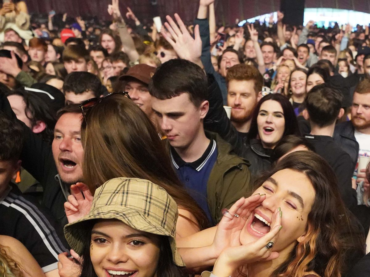 Crowds at a music festival in Sefton Park in Liverpool as part of the national Events Research Programme (ERP) on May 2, 2021. Pic: Danny Lawson/PA Wire