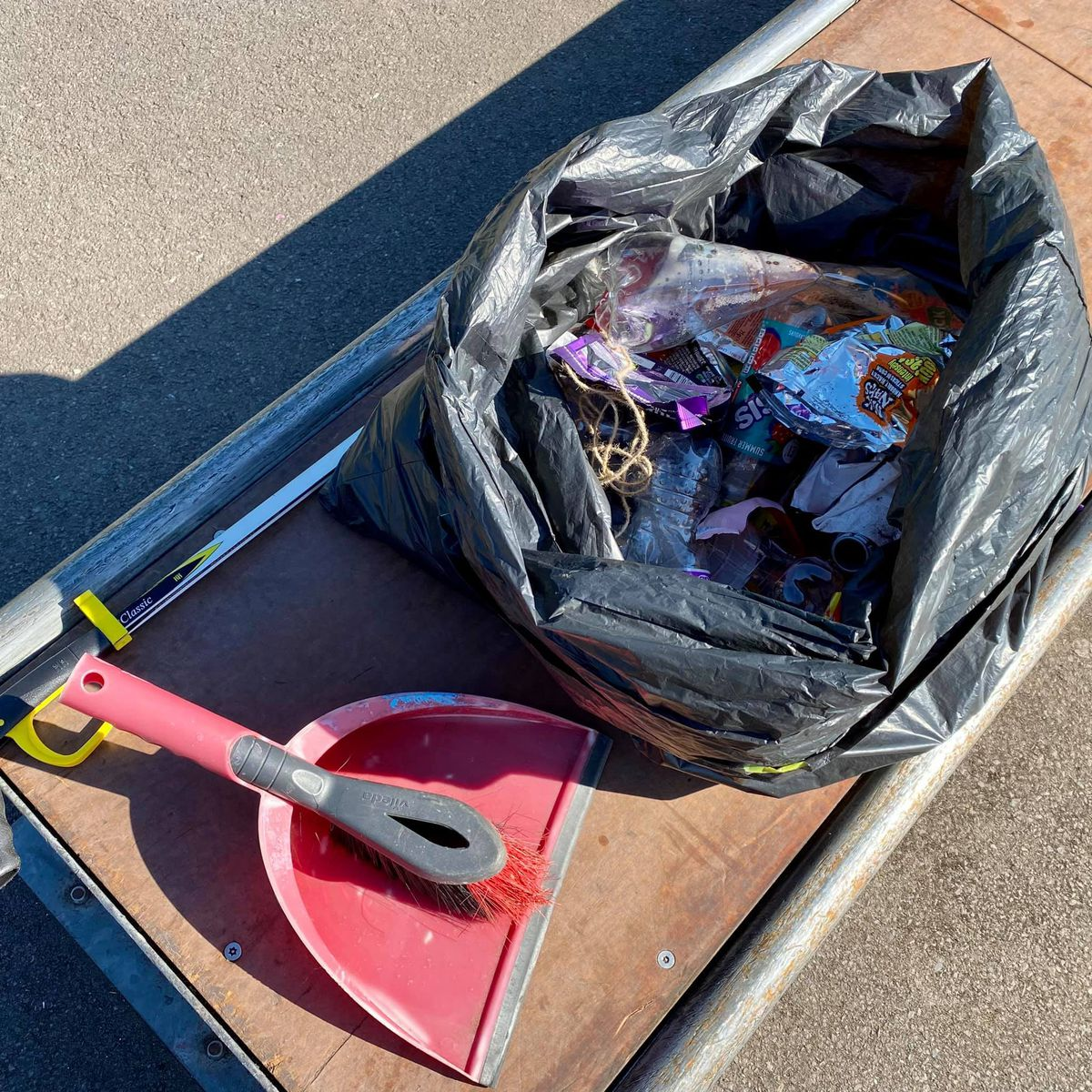 Some of the litter collected at Norbroom Park. Photo: Councillor Thomas Janke