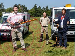 Telford and Wrekin Council leader Shaun Davies with Councillor Ian Preece