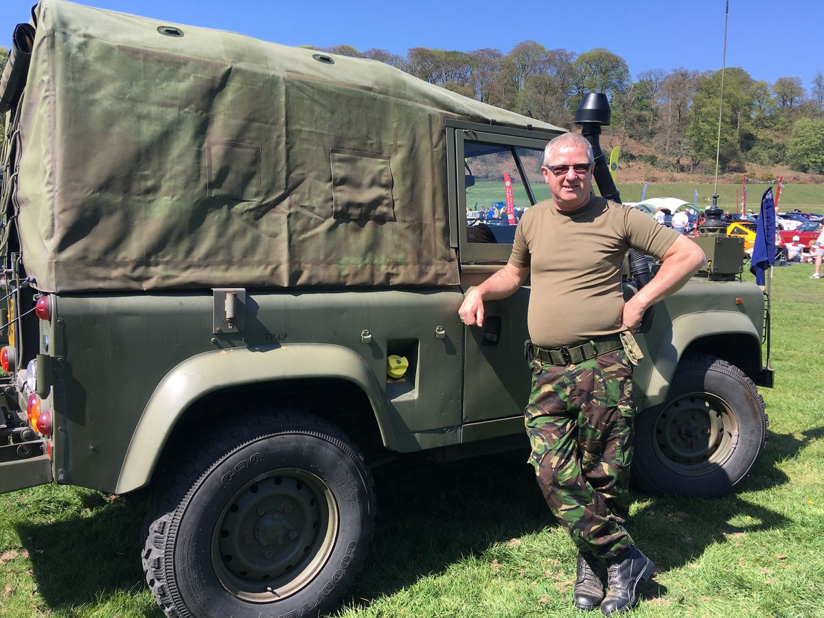 Mark Willis and his Land Rover