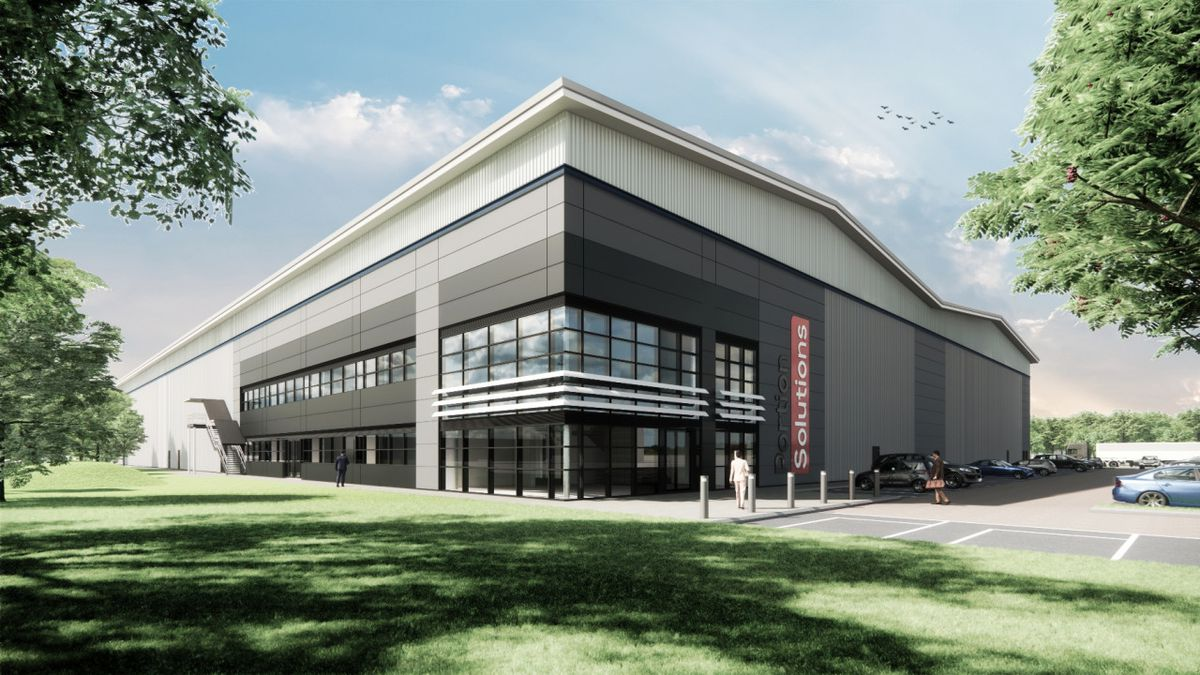 Artist's impression of new warehouse in Telford