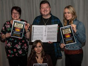 From left,  Jo Petford, Stephen Oliver-Davies and Nina Aver. Alice Allen (front)