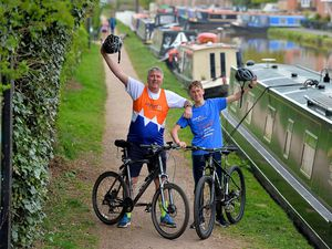 Father and son Richard and Harvey Hodgkins will be cycling all the way from north Shropshire to London using cycle paths this weekend, to raise money for the Motor Neurone Disease Association