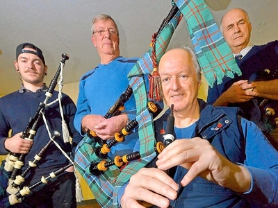 Bagpipes at 6am: Shropshire pipers to mark centenary - with video