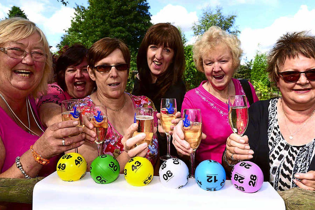 Friends celebrate £1m lottery win
