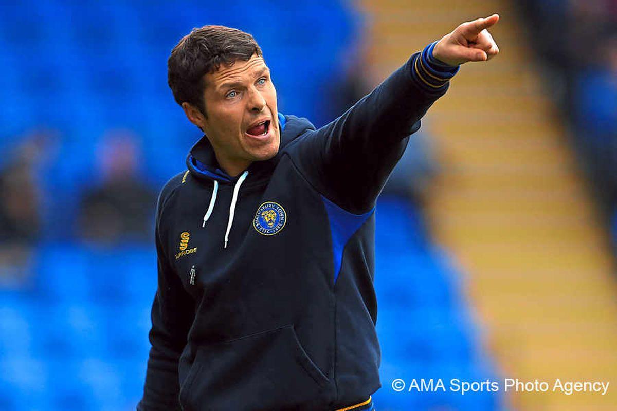 Shrewsbury Town boss Mike Jackson