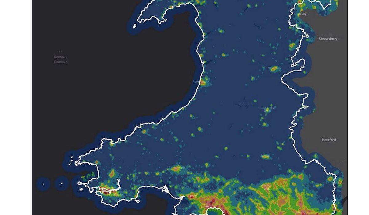 The new dark skies map