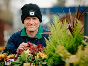 Derwen College in Oswestry has reopened its garden centre. Pictured is Paul Moss the nursery Production Manager.