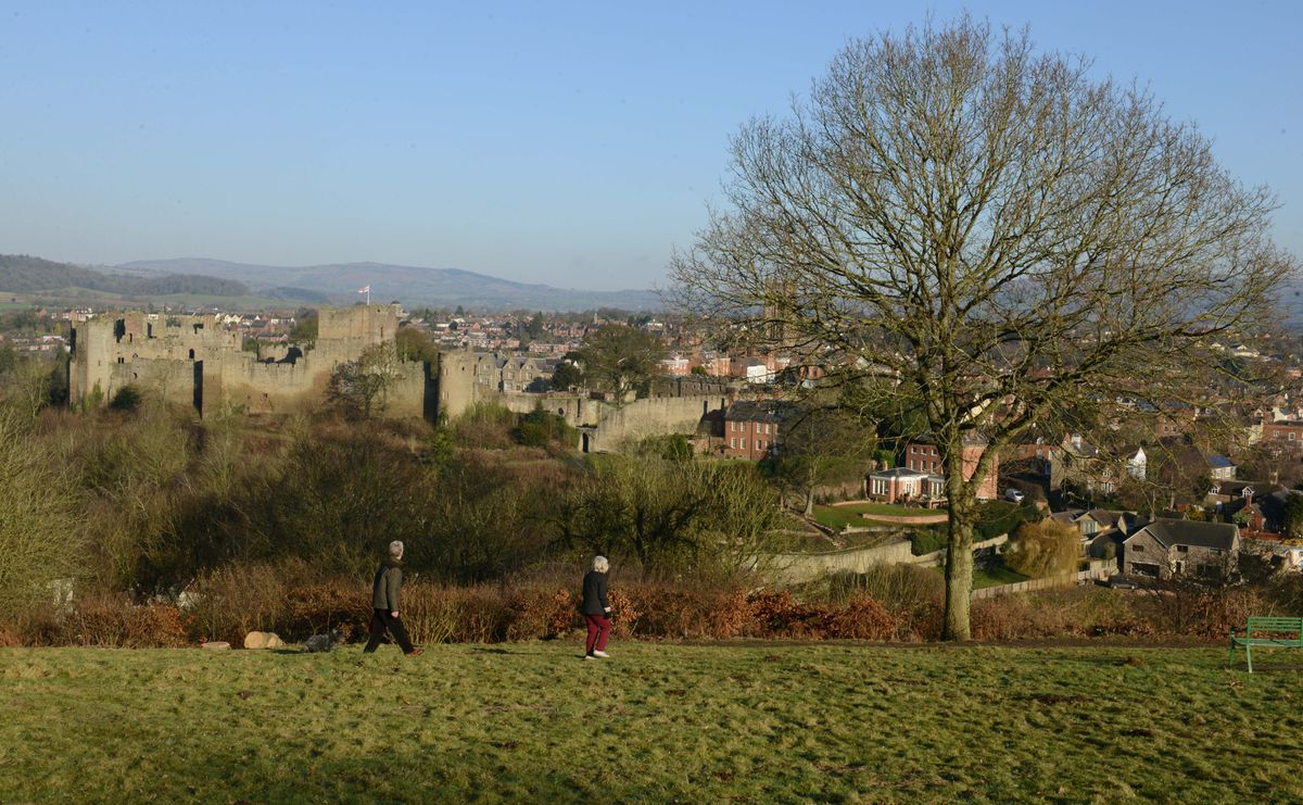 The view of Ludlow from Whitcliffe Common