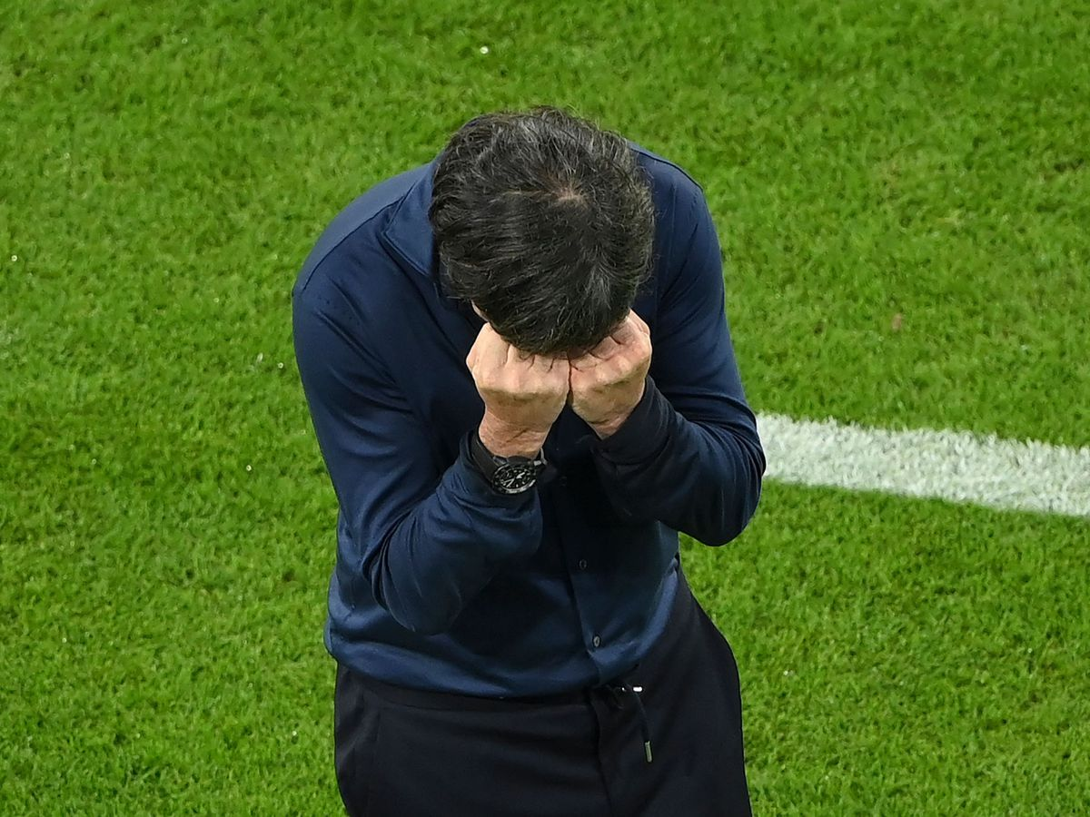 Germany head coach Joachim Loew struggled to contain his emotions during his side's thrilling draw against Hungary