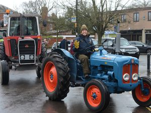 Elle Jones taking part in the Shropshire tractor run from Bridgnorth to Pattingham