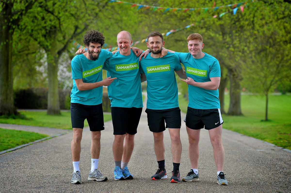 The four friends are running a marathon around Shrewsbury