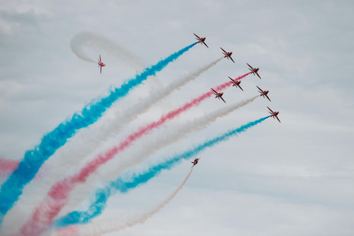 The red arrows at last year's Cosford Air Show