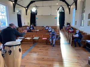 Members of the choir at Black Park Chapel