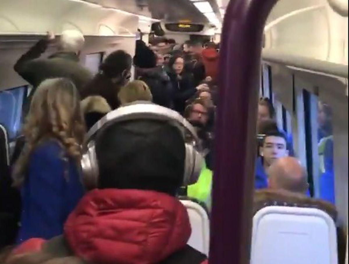 Luke Millichamp took a video of the packed Stourbridge to Birmingham line