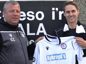 Dave Edwards joins Bala Town after his release from Shrewsbury Town this summer. Pic: Bala Town FC