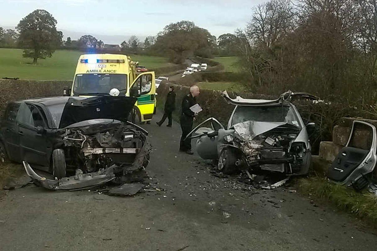 Bin crew hailed for Shrewsbury crash rescue