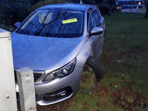 The Peugeot was left outside Donnington police station