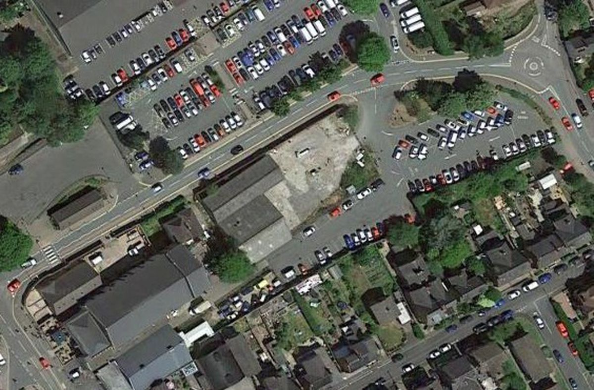 The travellers are understood to have set up at the smaller Towers Lawn car park (right). Photo: Google Maps