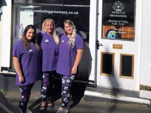 The Castle Dog Groomers team includesDebbie, her daughter Alice Humphreys and daughter in law Sara Elin Williams, both 27.