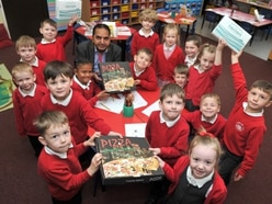 These Shropshire pupils get a pizza the action