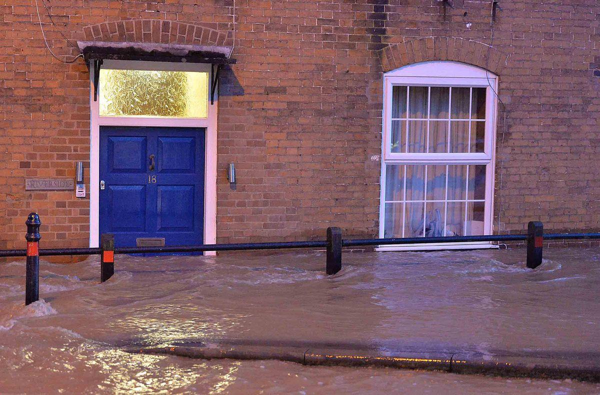 Flooding in Weeping Cross Lane, Ludlow