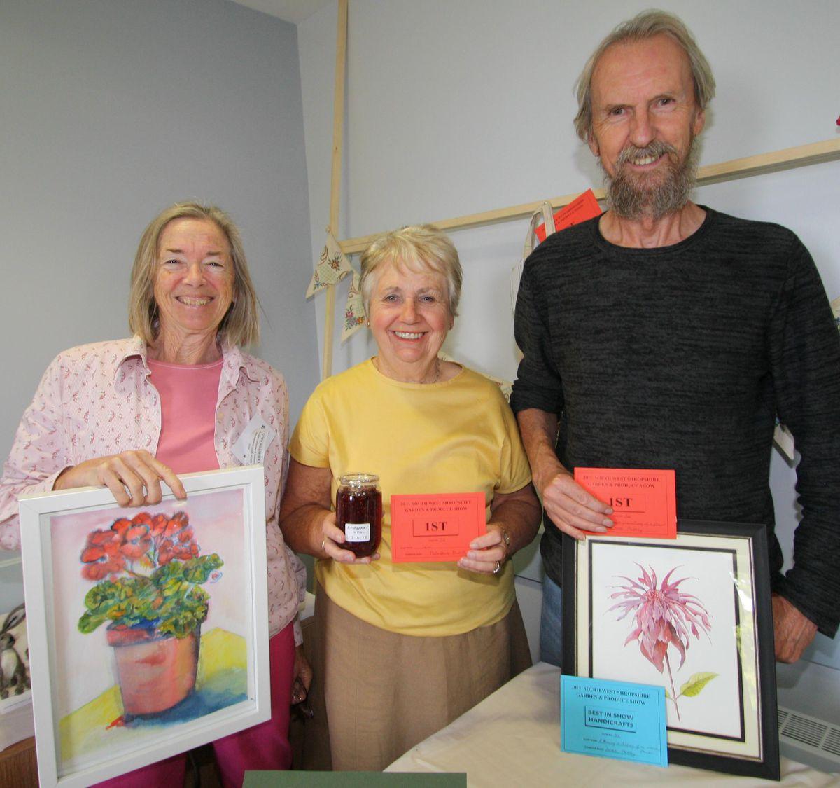 L-R Pauline Owens, Marjorie Davies, Derek Mattey