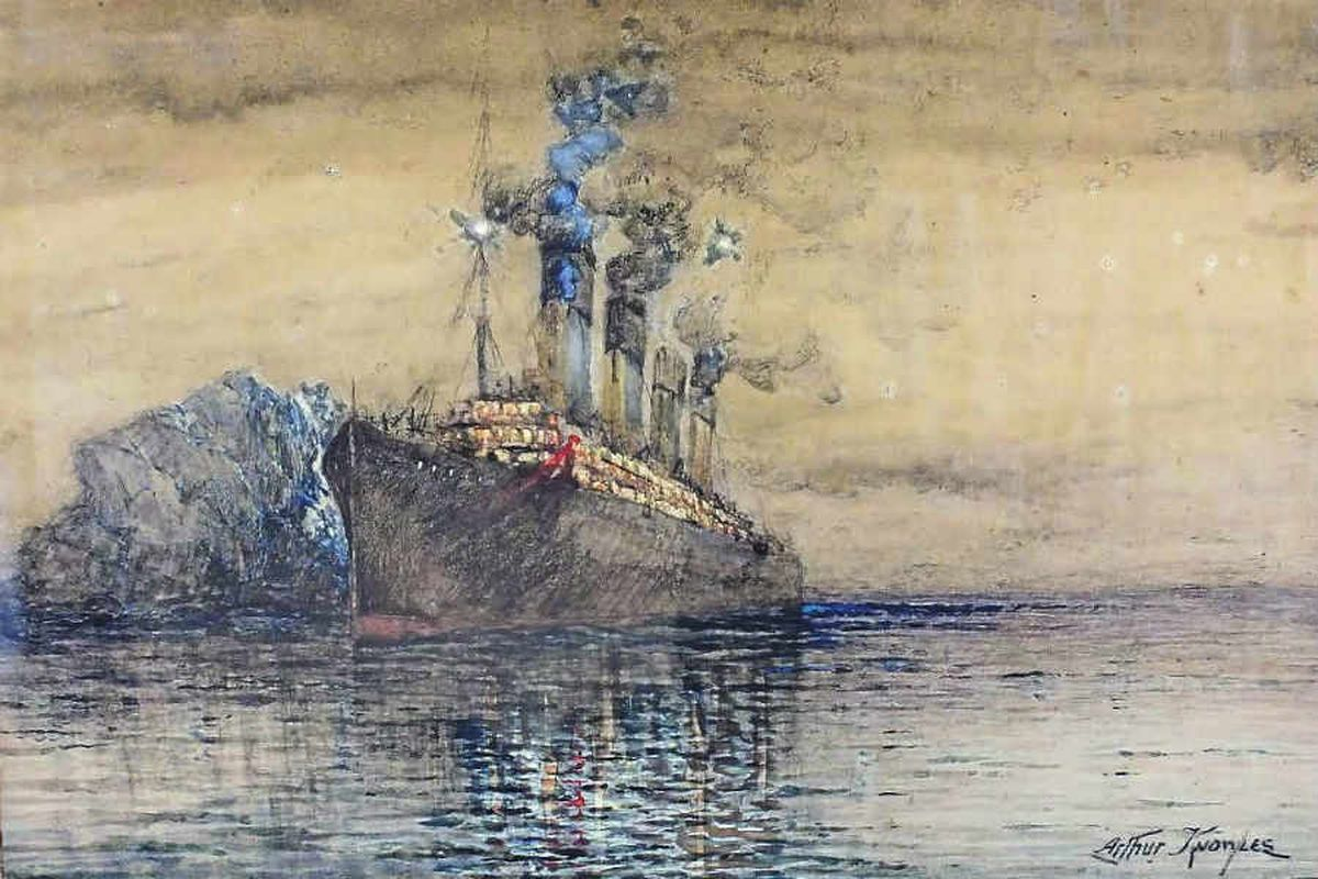 Poignant Titanic painting goes up for auction in Shrewsbury
