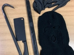 Two arrests after meat cleaver, ski mask and crowbars found in car in Telford
