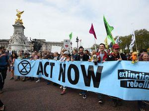 Climate change protestors in London