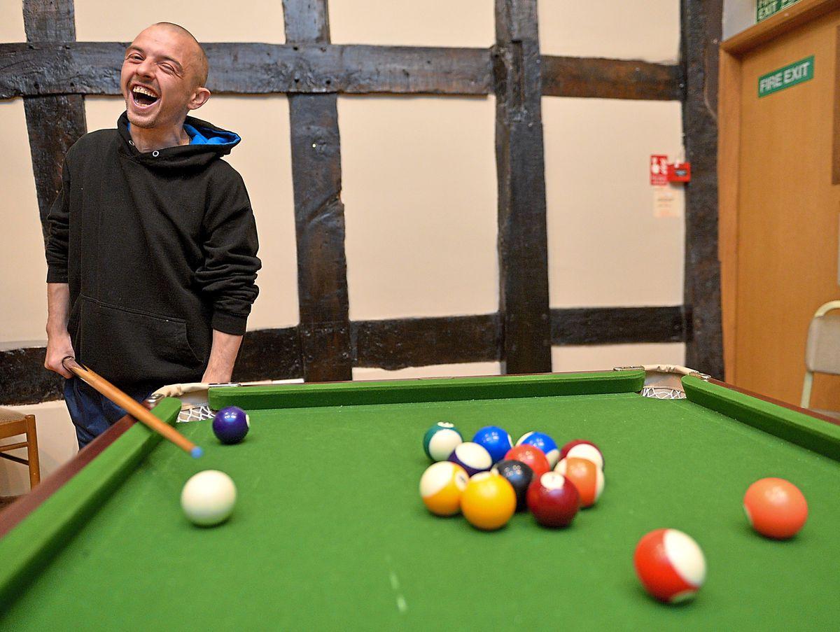 Richard playing pool