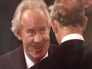 Julian Burrell talking to the Prince of Wales